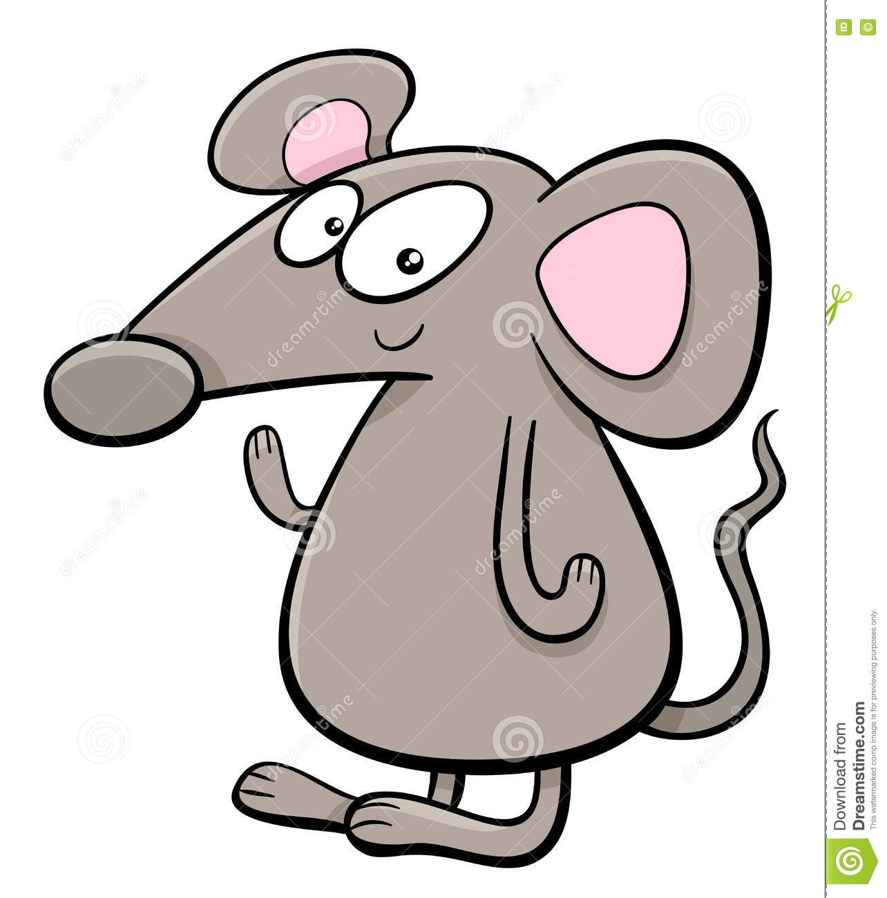 mouse cartoon character stock vector image 80970423