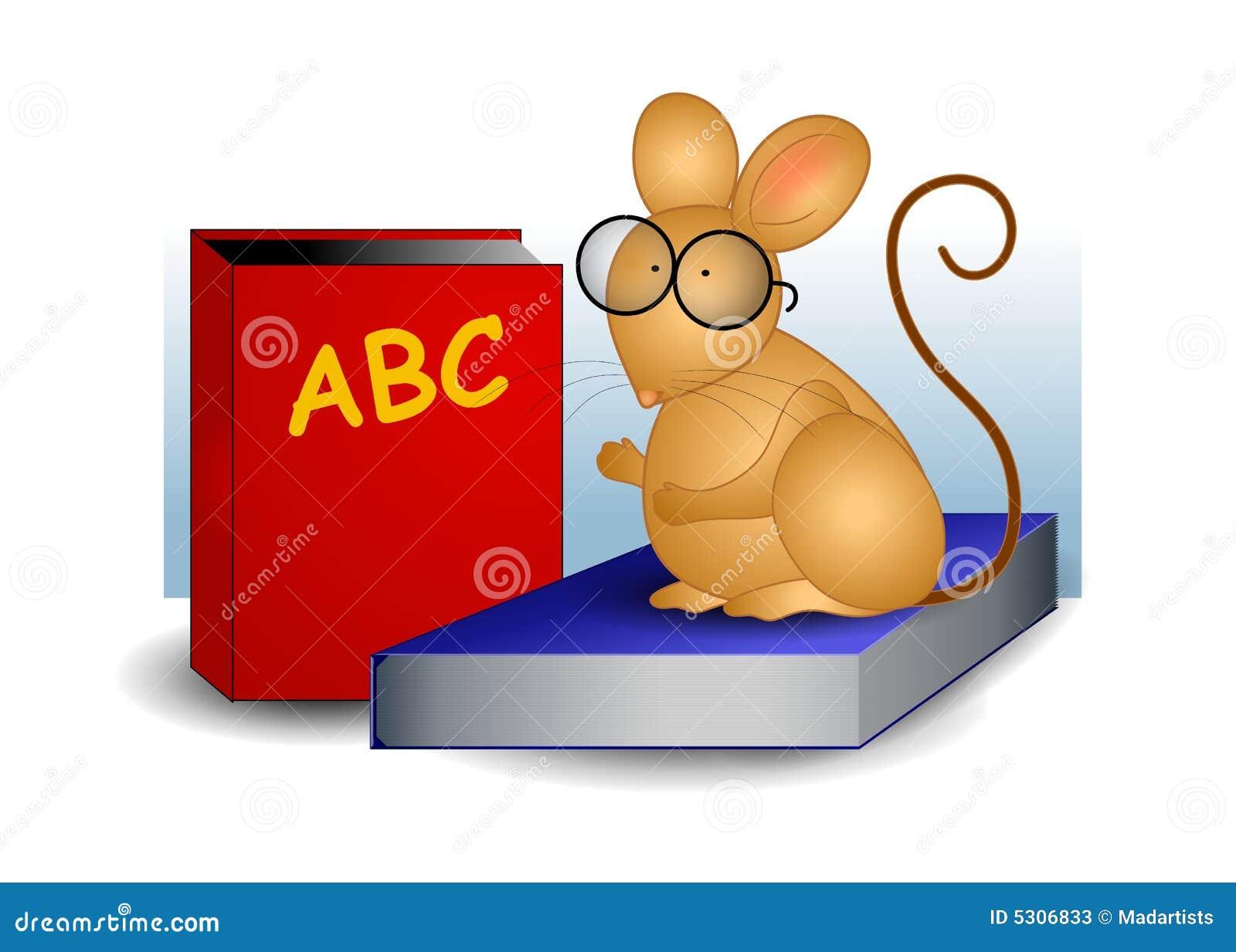 Download Mouse Che Si Siede Sui Libri Di Banco Illustrazione Vettoriale - Illustrazione di intelligenza, illustrazione: 5306833