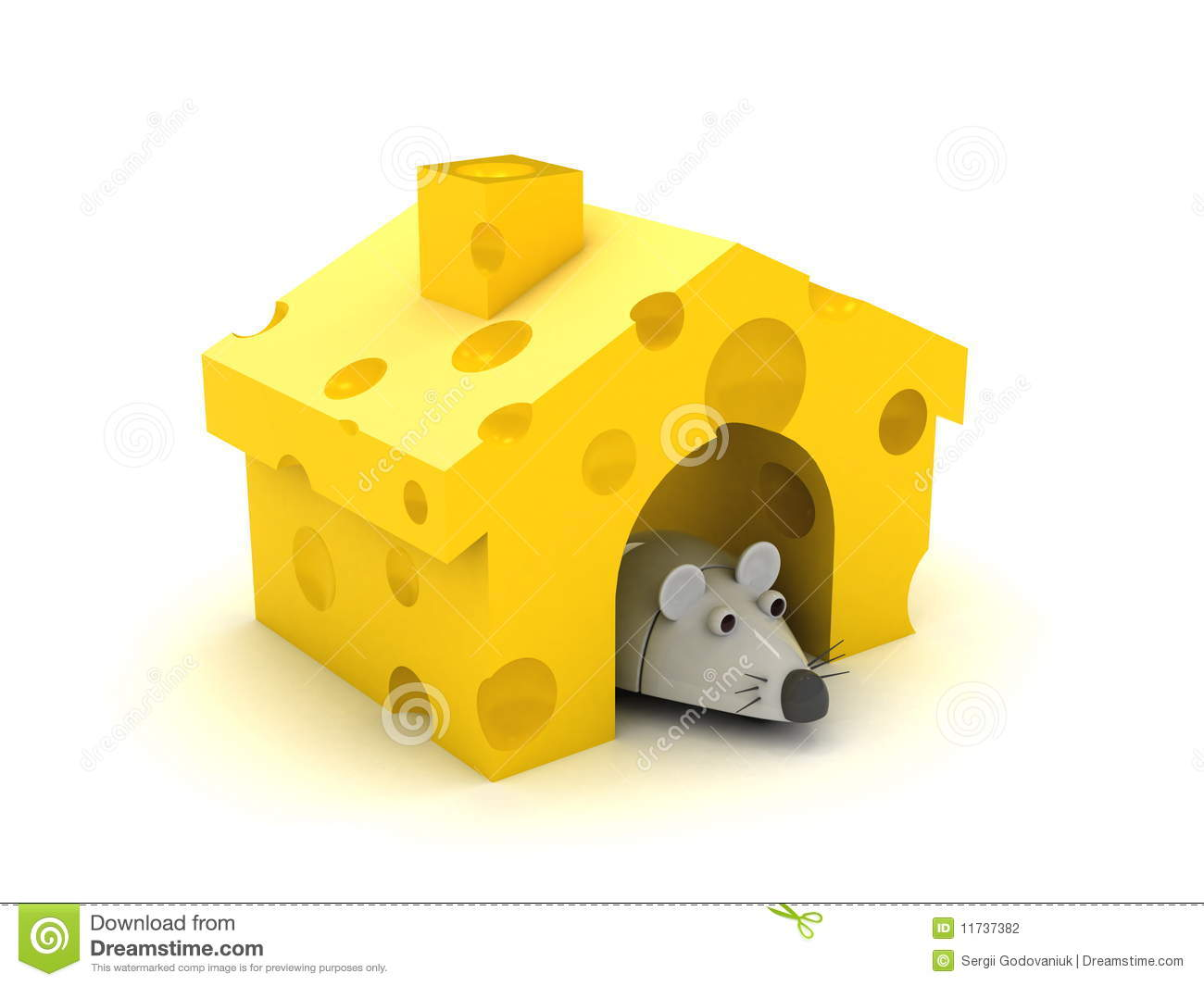 Mouse And Cheese House Stock Photography - Image: 11737382