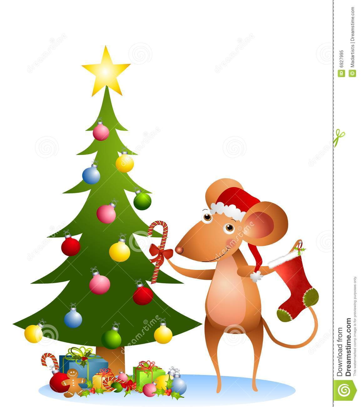 christmas mouse clipart - photo #41