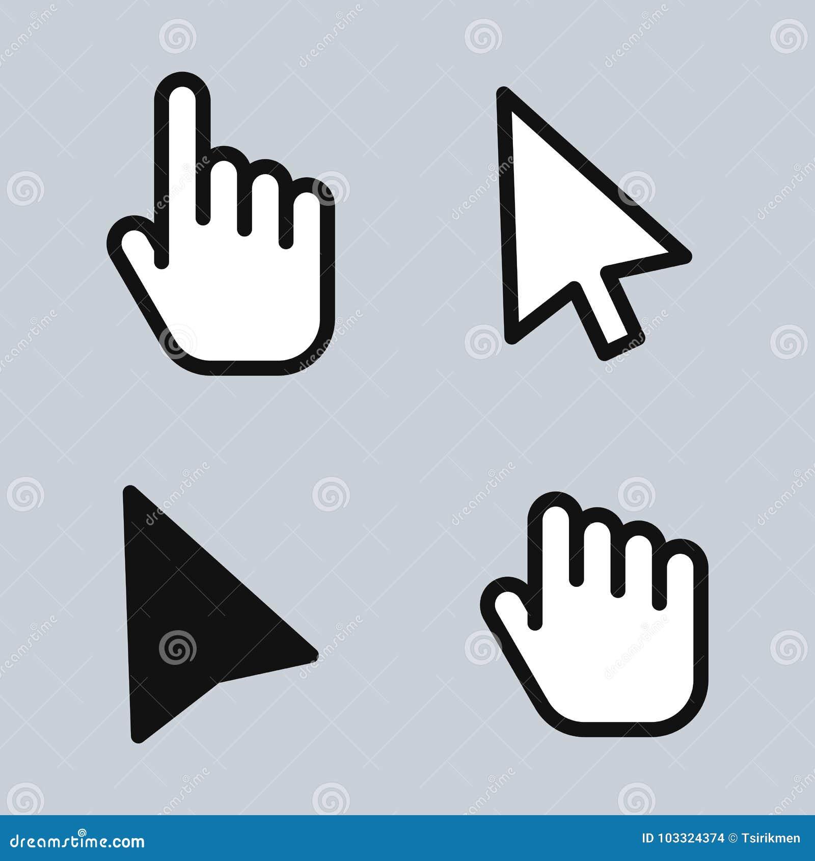 Mouse Cursor Arrow Hand