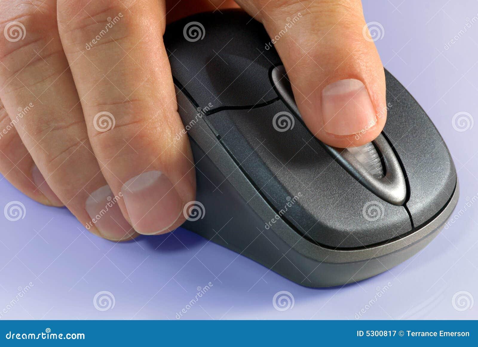 Download Mouse Del Calcolatore Di Ireless Immagine Stock - Immagine di mano, input: 5300817