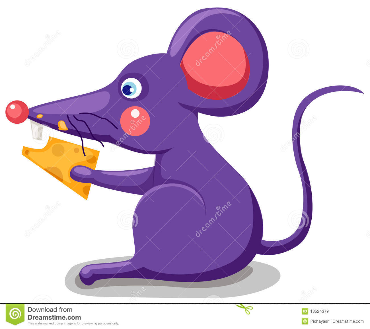 clipart mouse eating cheese - photo #14
