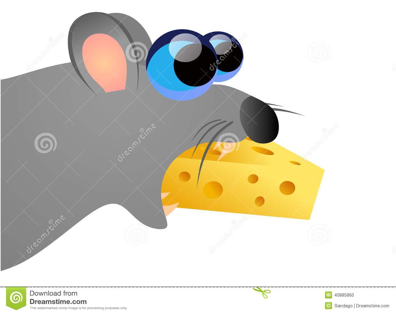 clipart mouse eating cheese - photo #44