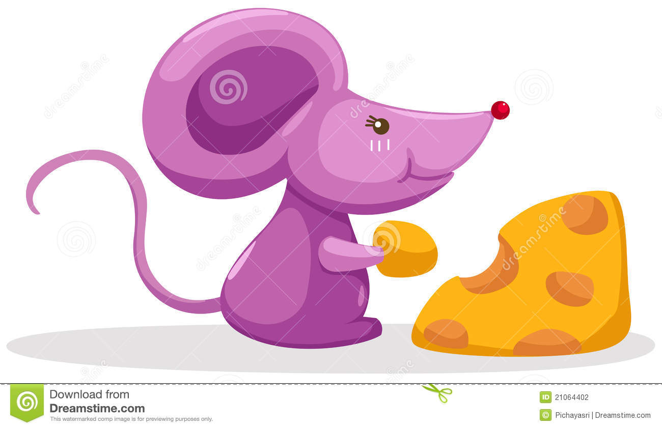 Mouse eating a piece of cheese