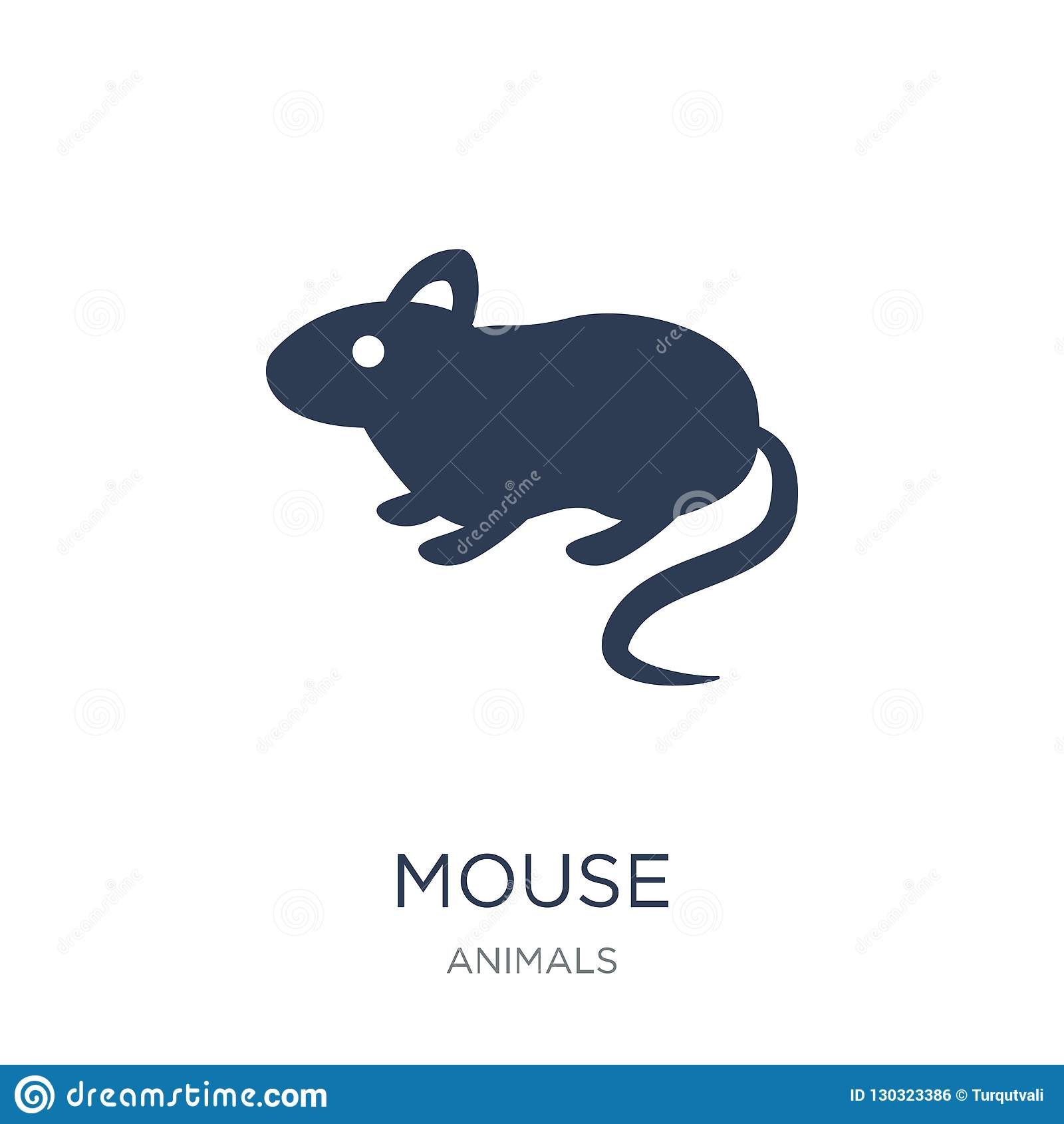 Mouse icon. Trendy flat vector Mouse icon on white background fr