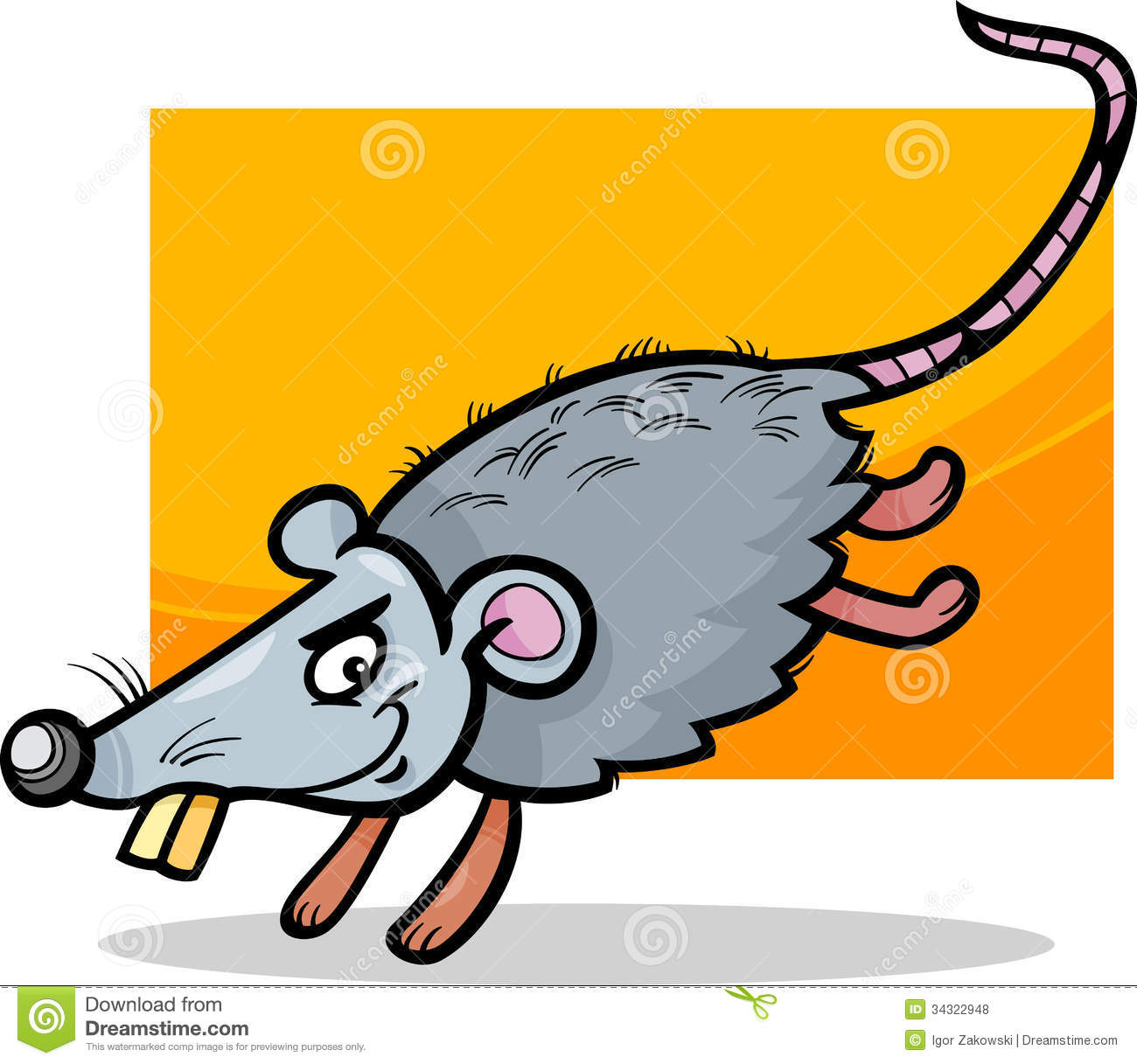 Running Mouse Cartoon