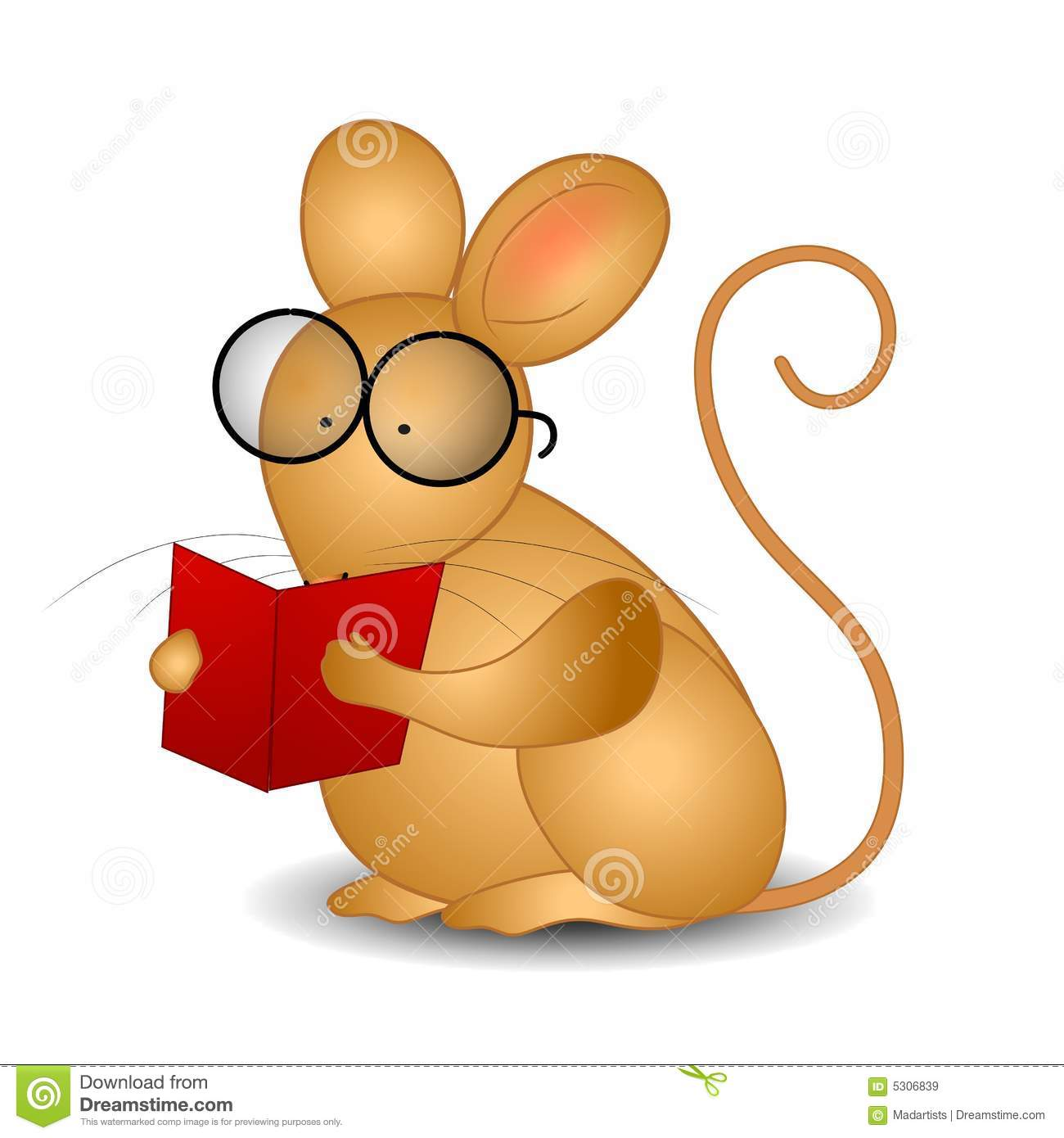 mouse reading a book royalty free stock images image 5306839. Black Bedroom Furniture Sets. Home Design Ideas