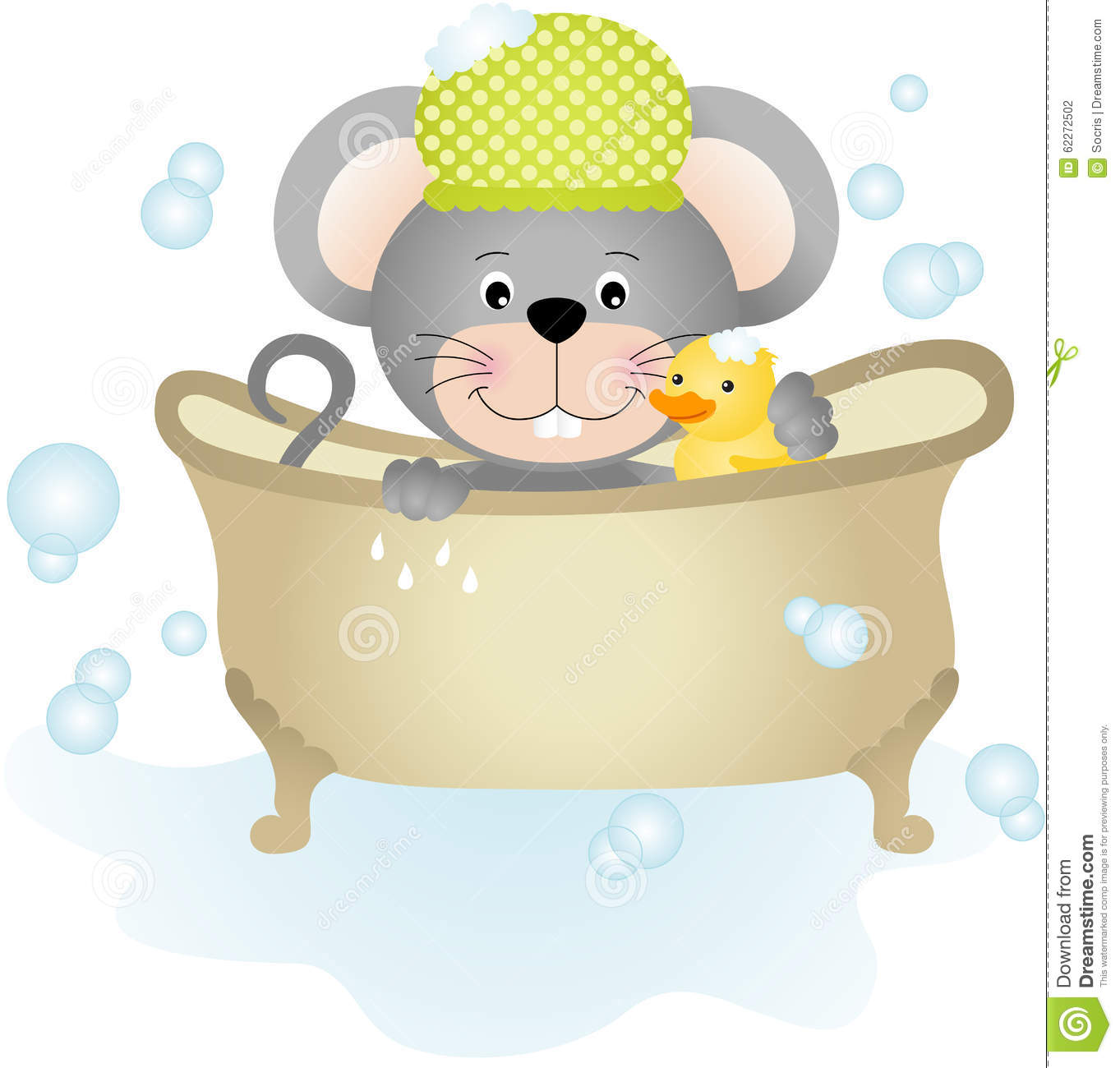 Mouse taking a bath stock vector image 62272502 - Image of bath room ...