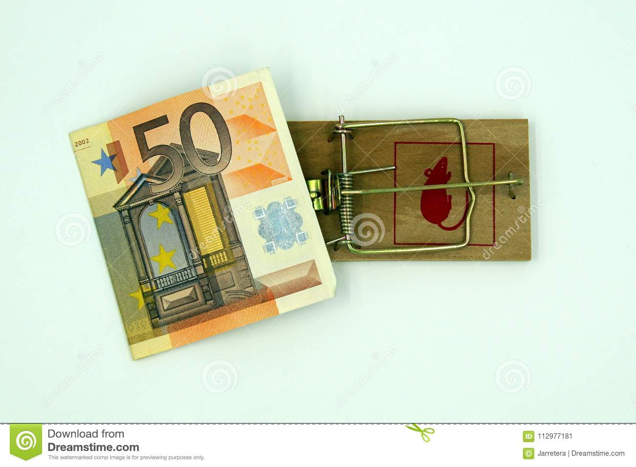 Mouse trap with 50 euro note
