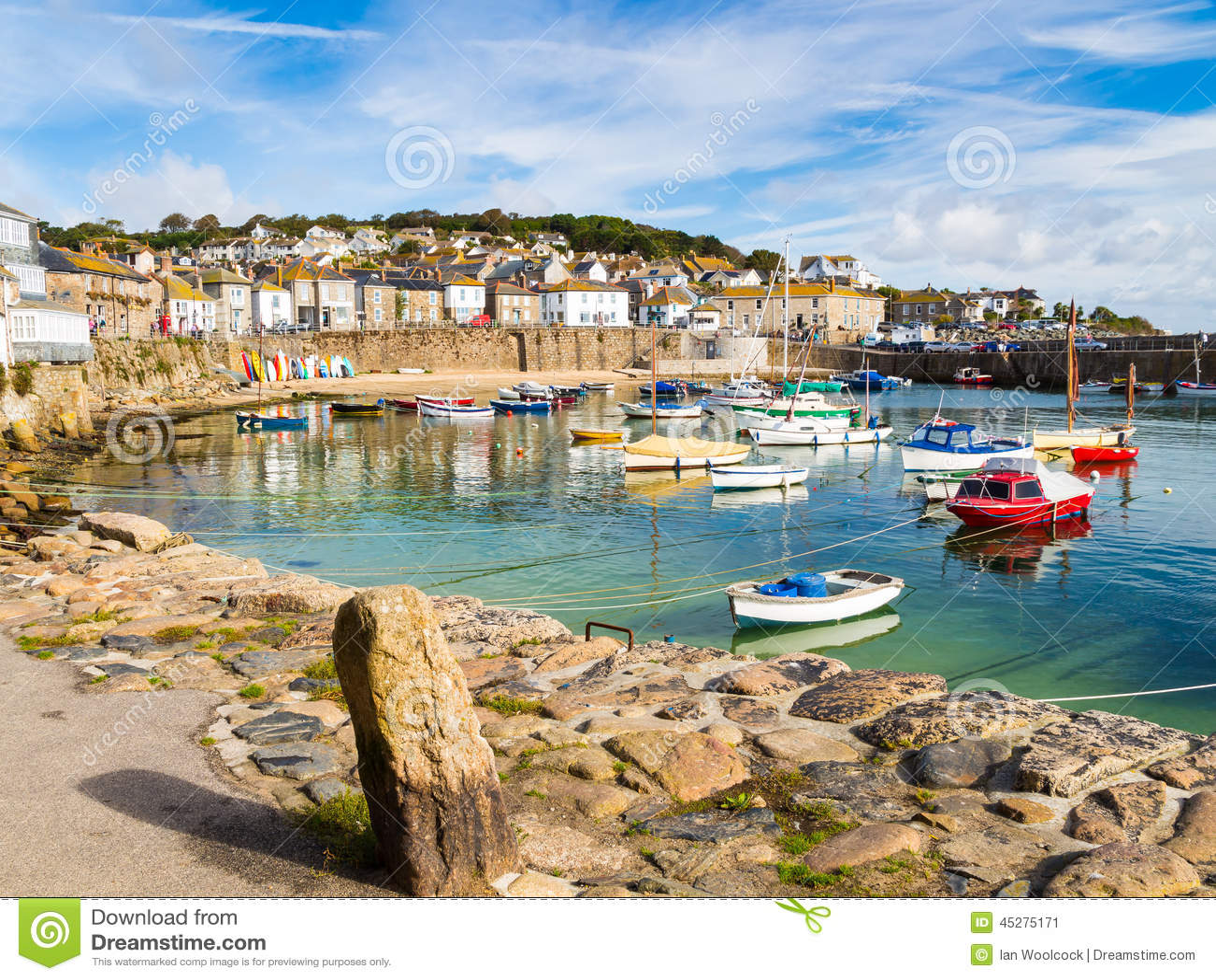 Mousehole Cornwall England Stock Photo - Image: 45275171