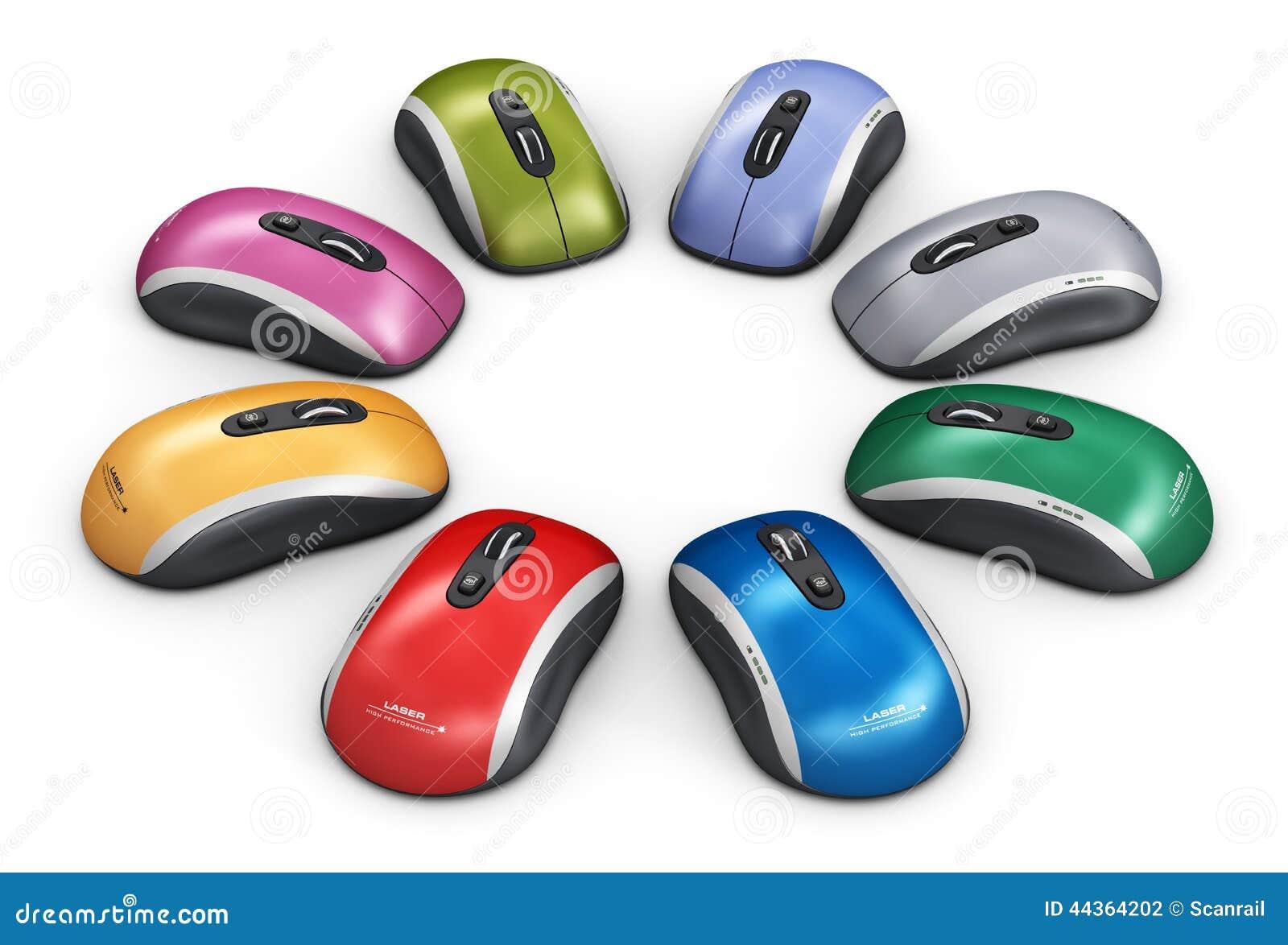 Topo del computer di colore sistemato nel cerchio