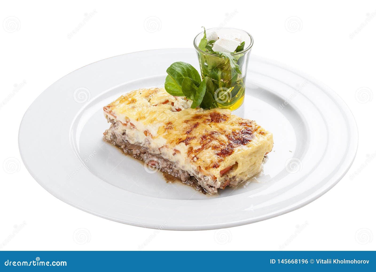 Moussaka Un plato griego tradicional