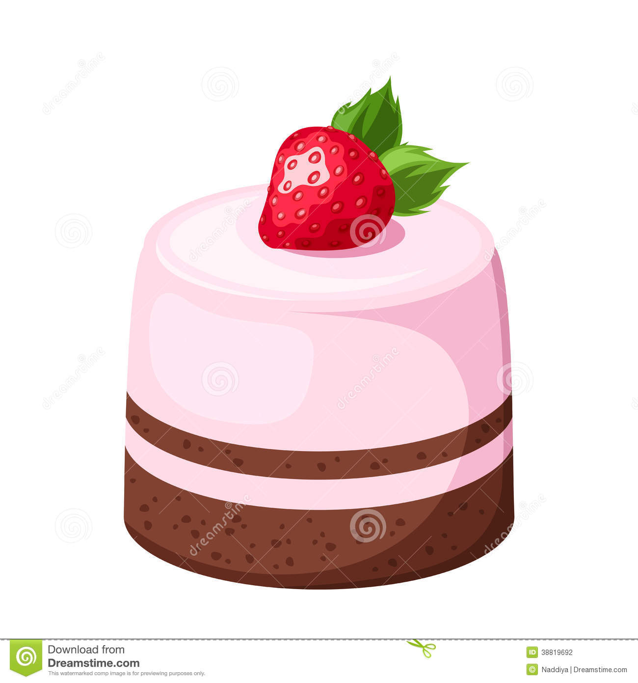 Mousse Cake. Vector Illustration. Stock Vector - Image ...