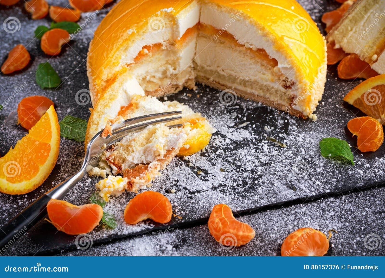 Gateau mousse mandarine