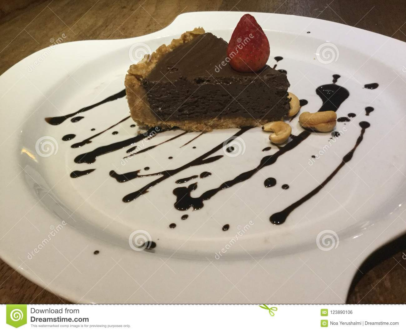 Mousse Pie  Chocolate Cake  Raw  Stock Photo - Image of