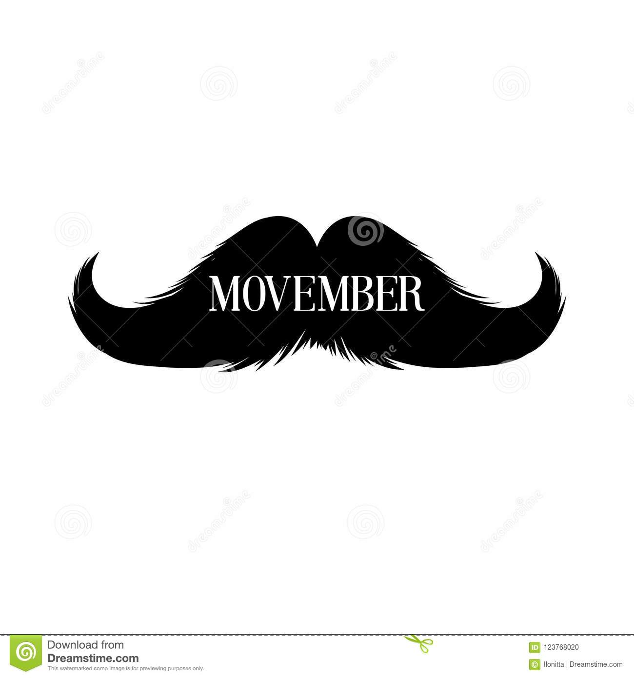 moustaches movember clipart black isolated silhouette and lettering