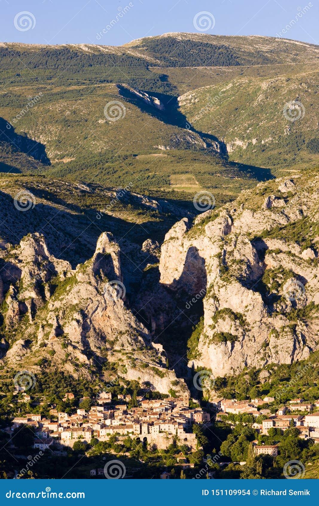 Moustiers Sainte Marie, Alpes-de-Haute-Provence Abteilung, Fra