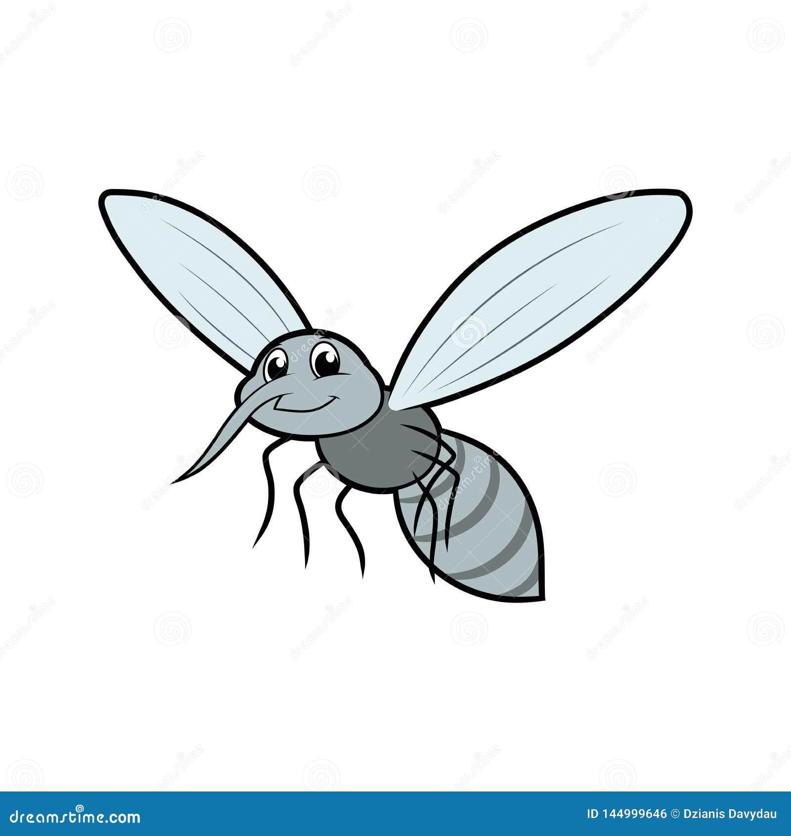 Moustique volant de sourire