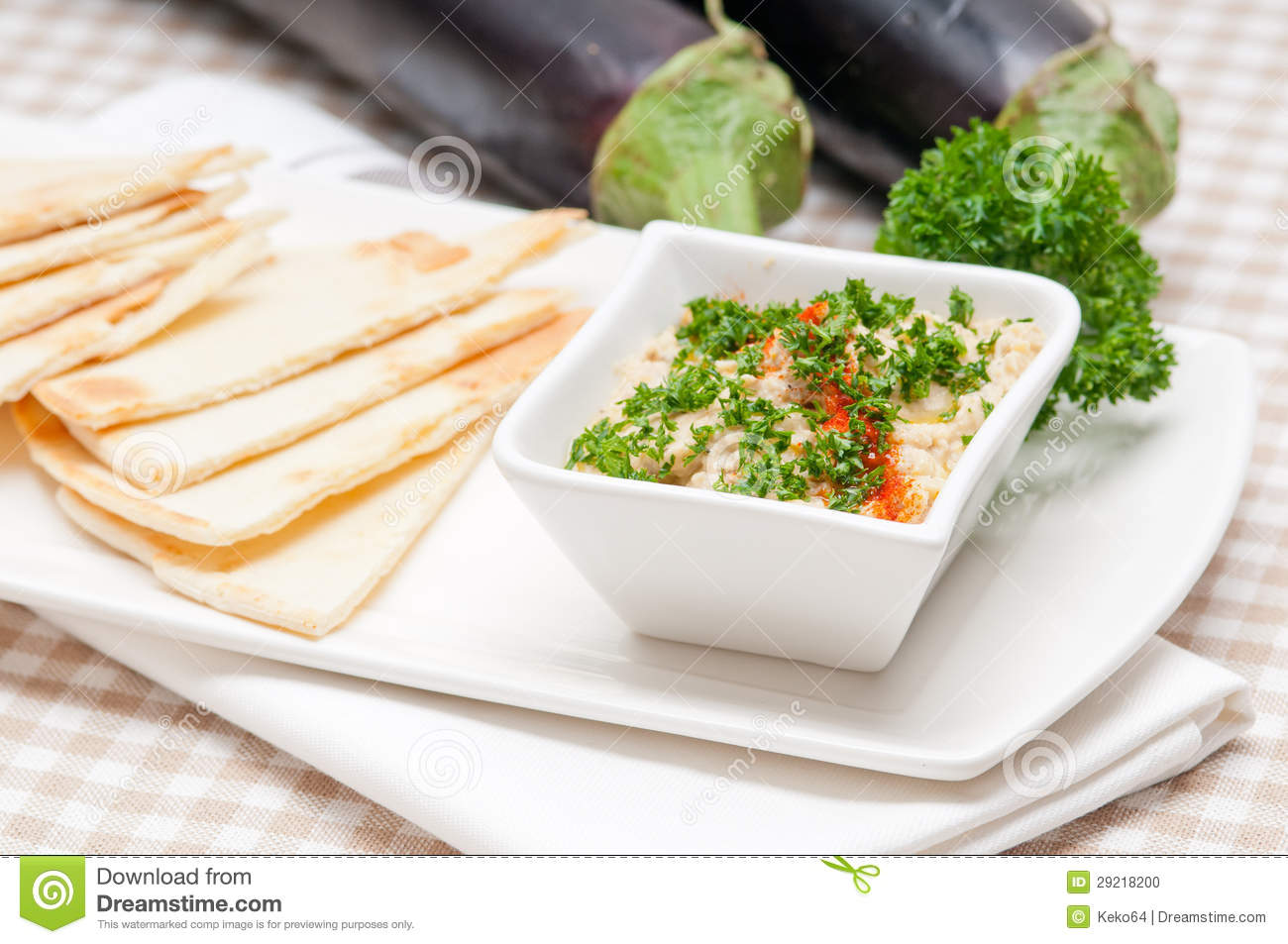 Moutabal Baba Ghanoush Eggplant Dip Stock Photo - Image: 29218200
