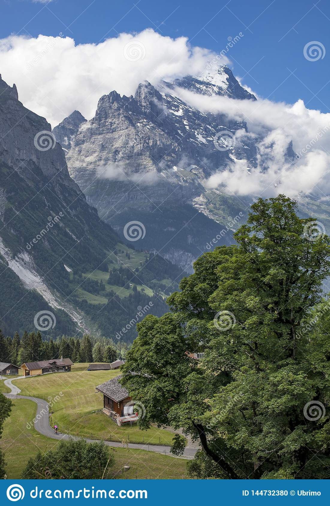 Moutainbiking in Grindelwald, die Schweiz