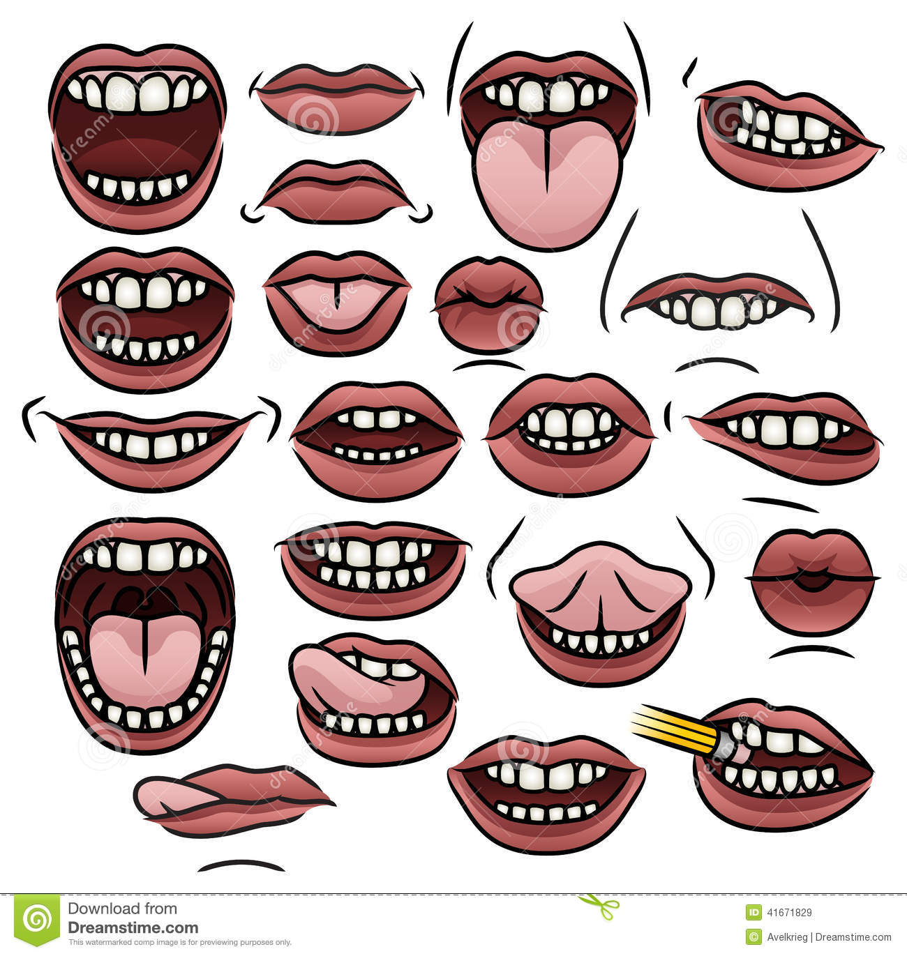 Mouth Collection stock vector. Illustration of cartoon ...