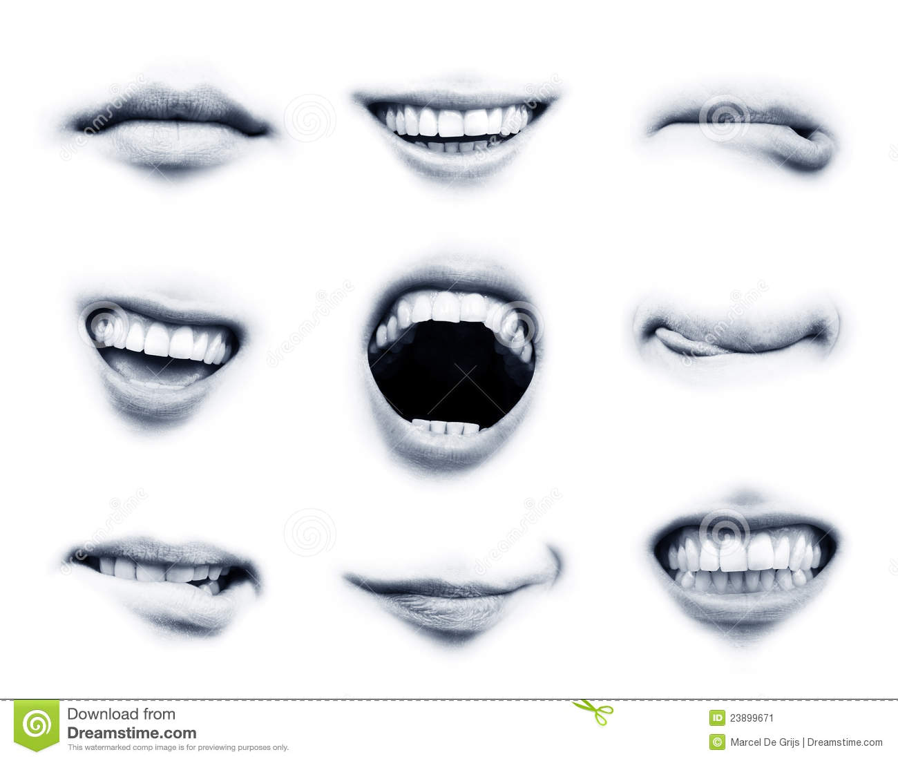 Stock Image Mouth Emotions Image23899671 on Language Emotions