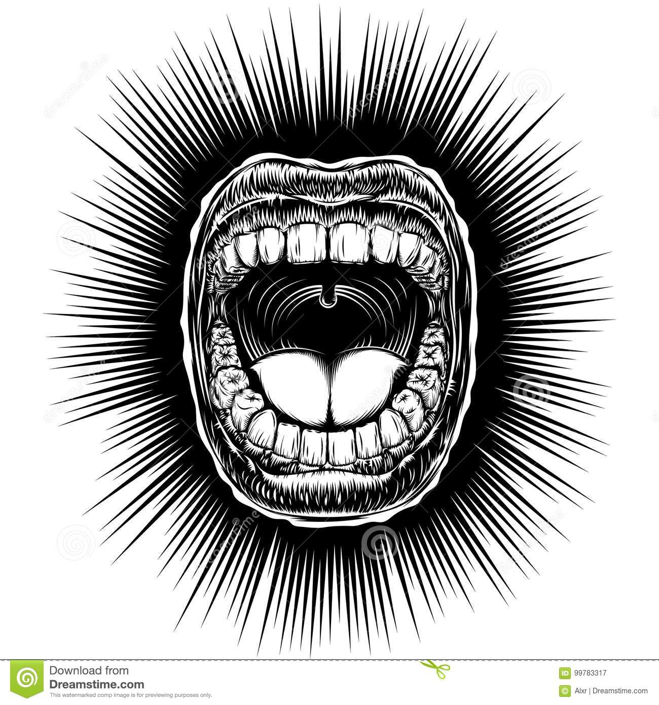 It's just an image of Gorgeous Open Mouth Smile Drawing