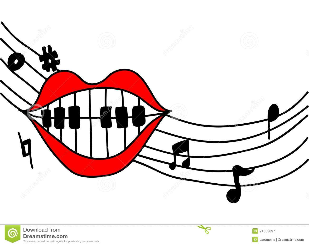 mouth singing music stock vector image of piano  vioce dentistry clip art dentist clip art free