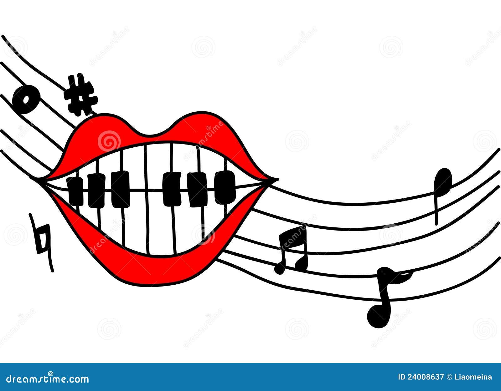 mouth singing music stock vector image of piano  vioce free piano clip art black white free piano clip art recital