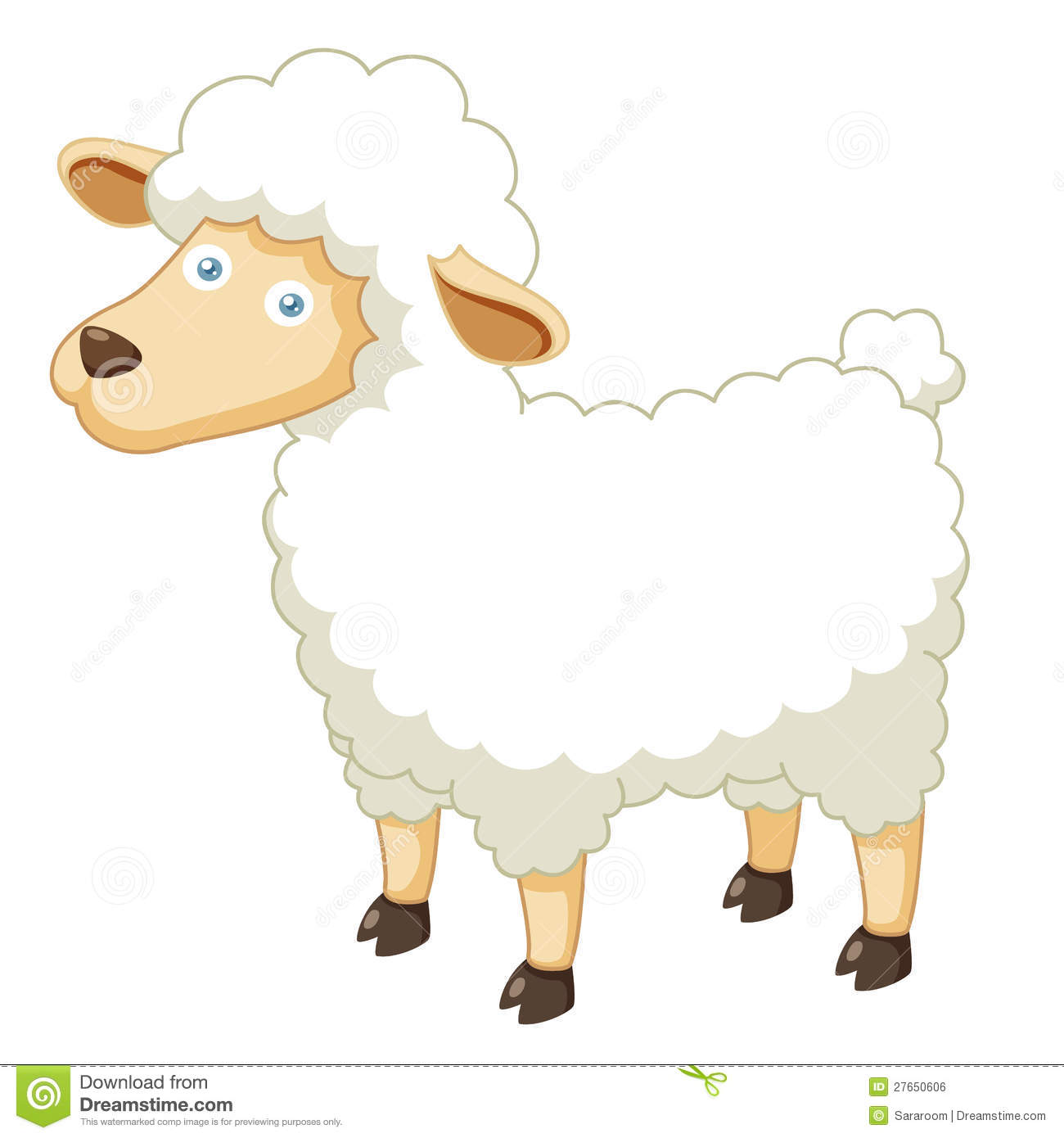 Moutons de dessin anim illustration de vecteur - Mouton en dessin ...