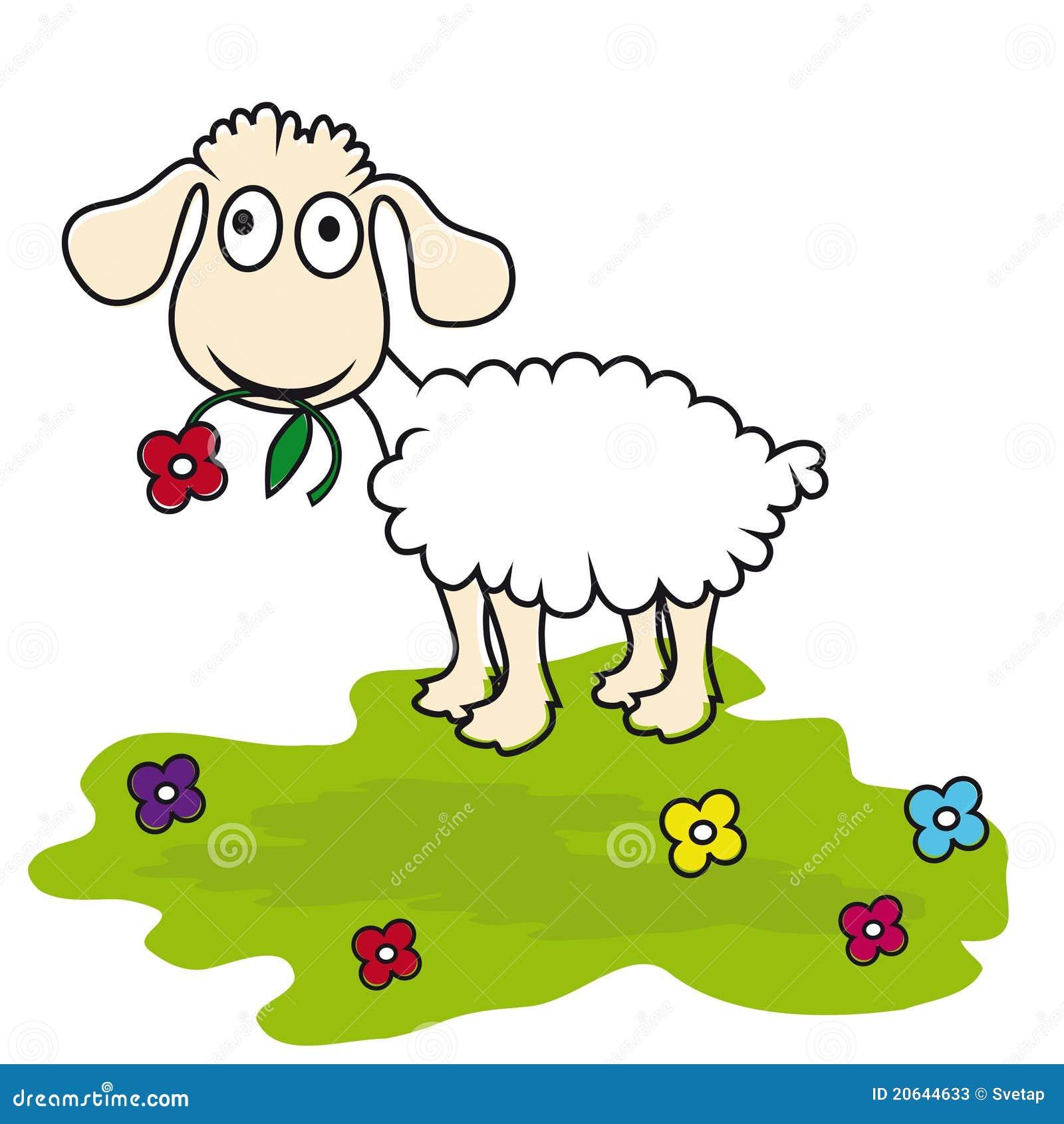 Moutons de dessin anim agneau illustration de vecteur - Mouton en dessin ...