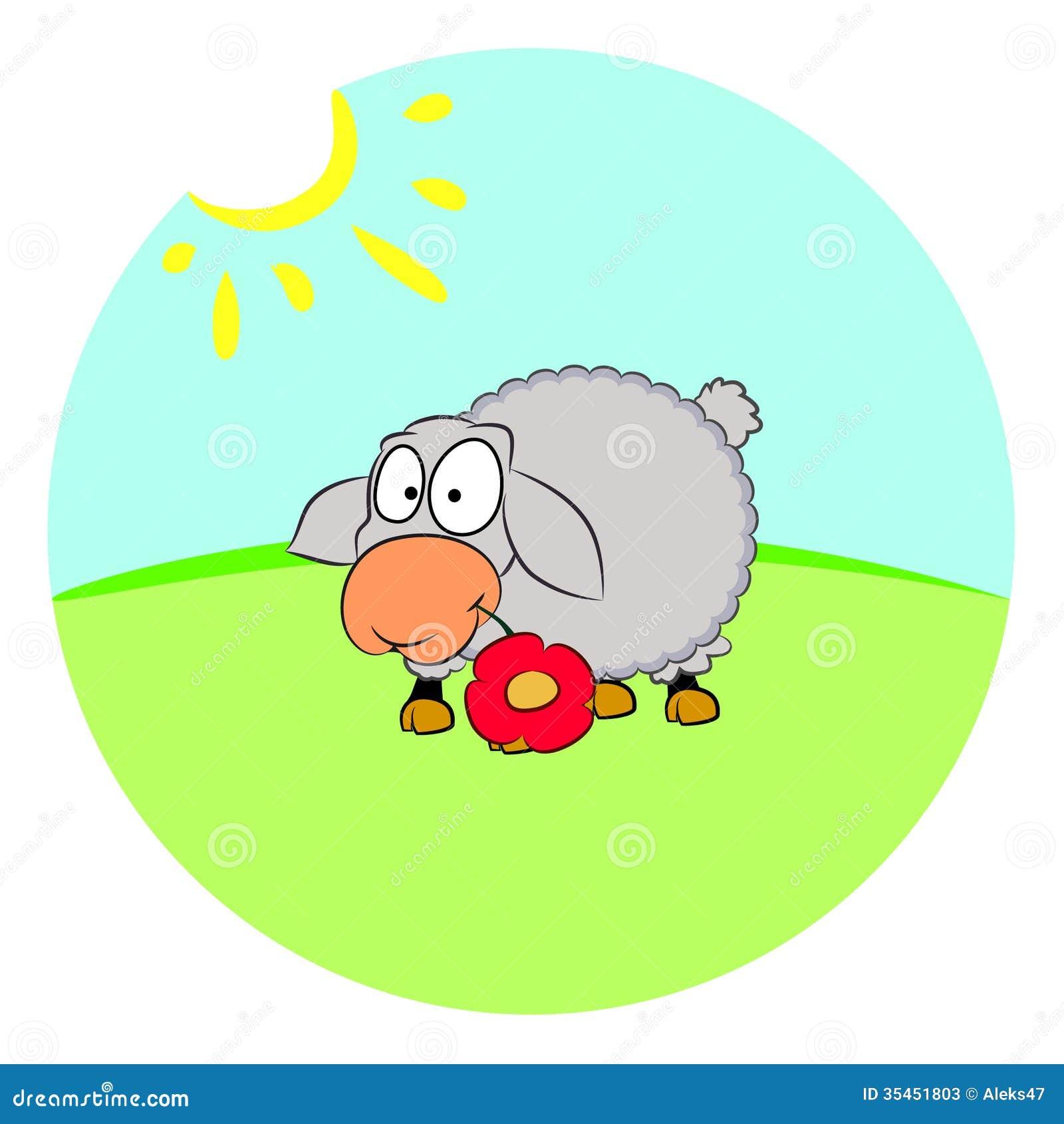 Moutons sur la pelouse