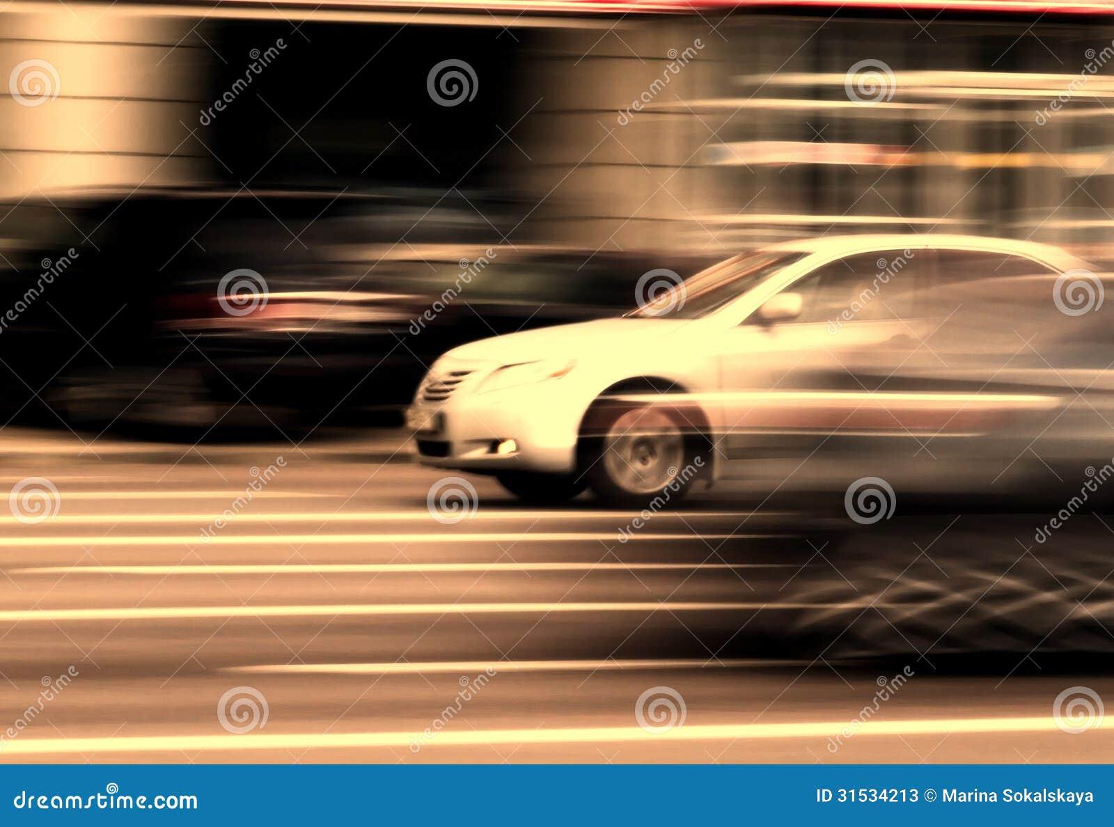 mouvement du trafic de rue de voiture image stock image du transport inscription 31534213. Black Bedroom Furniture Sets. Home Design Ideas