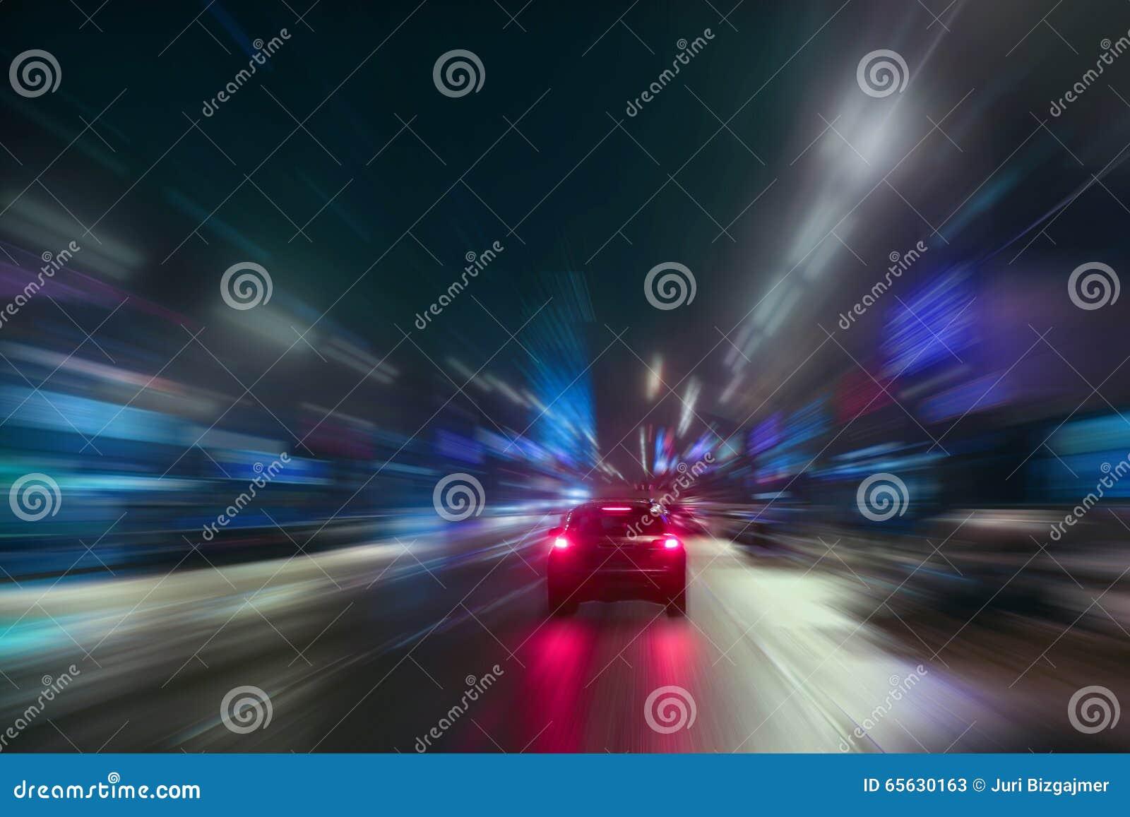 Mouvement ultra-rapide la nuit