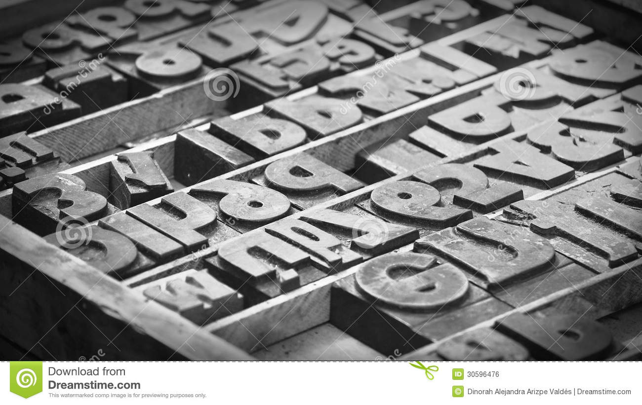 Royalty Free Stock Image Movable Type Old Letters Black White Picture Image30596476 on Latest Old English Writing