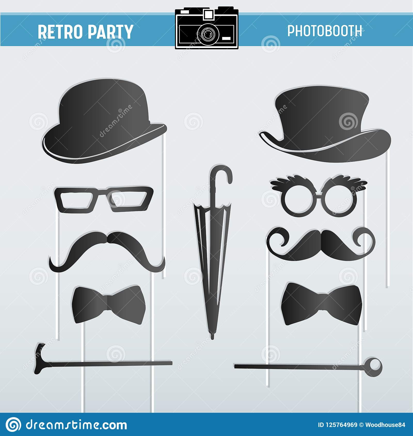 graphic regarding Printable Moustaches identify Movember Retro Get together Printable Gles, Hats, Moustaches