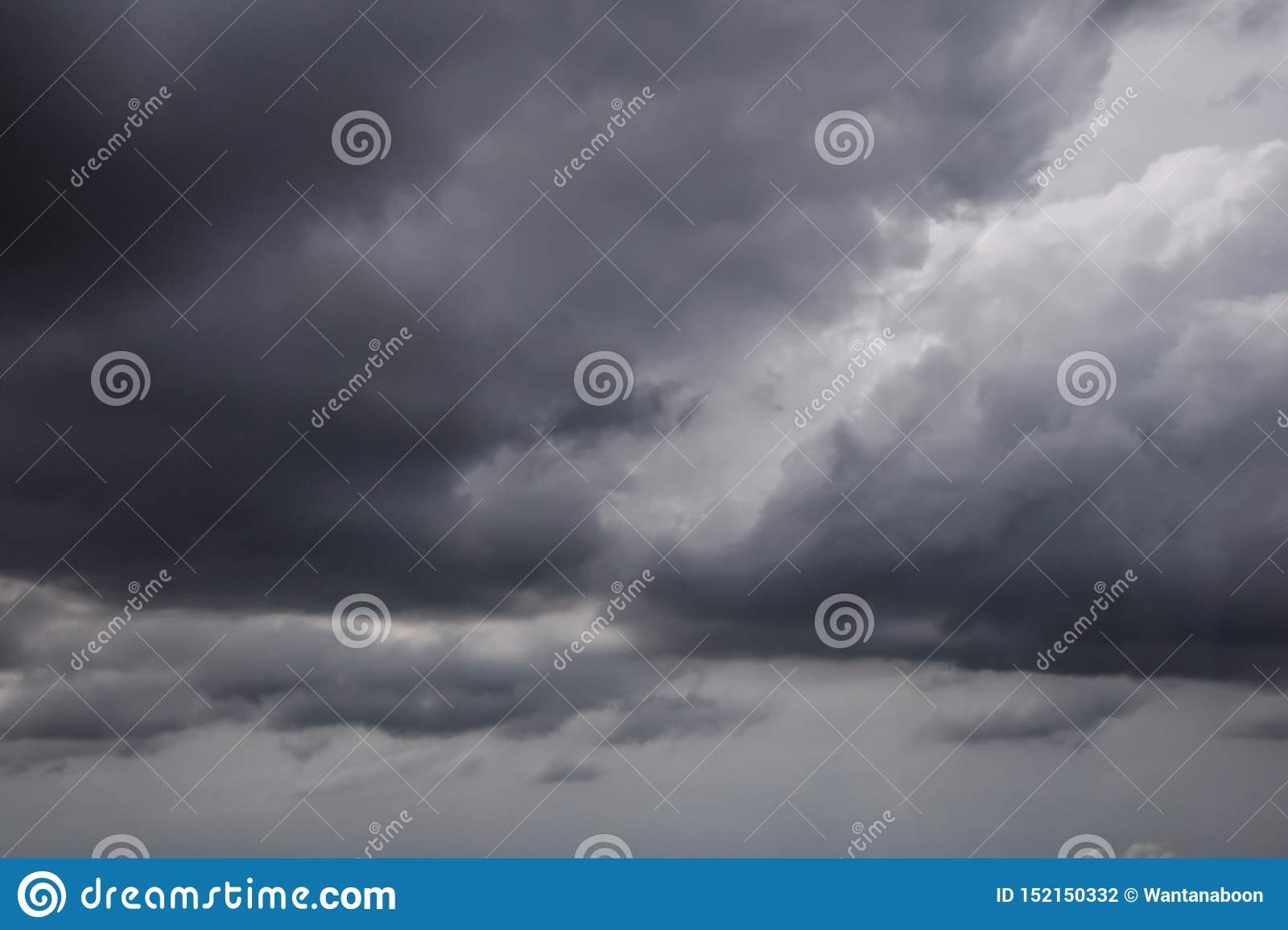 The movement of black clouds before rain, Storm Clouds Area, Black clouds form above the sky before exceeding the storm
