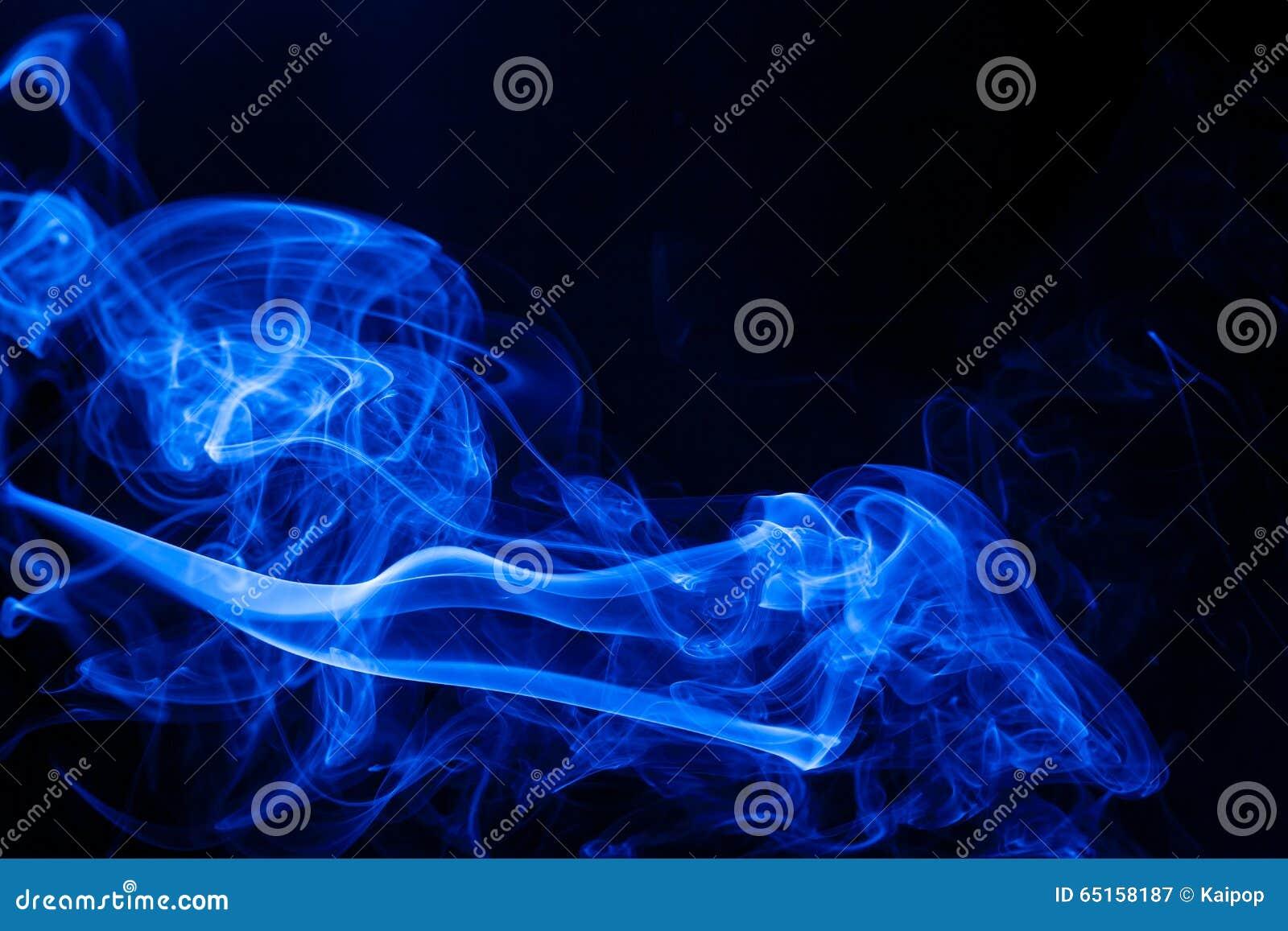 Movement blue smoke