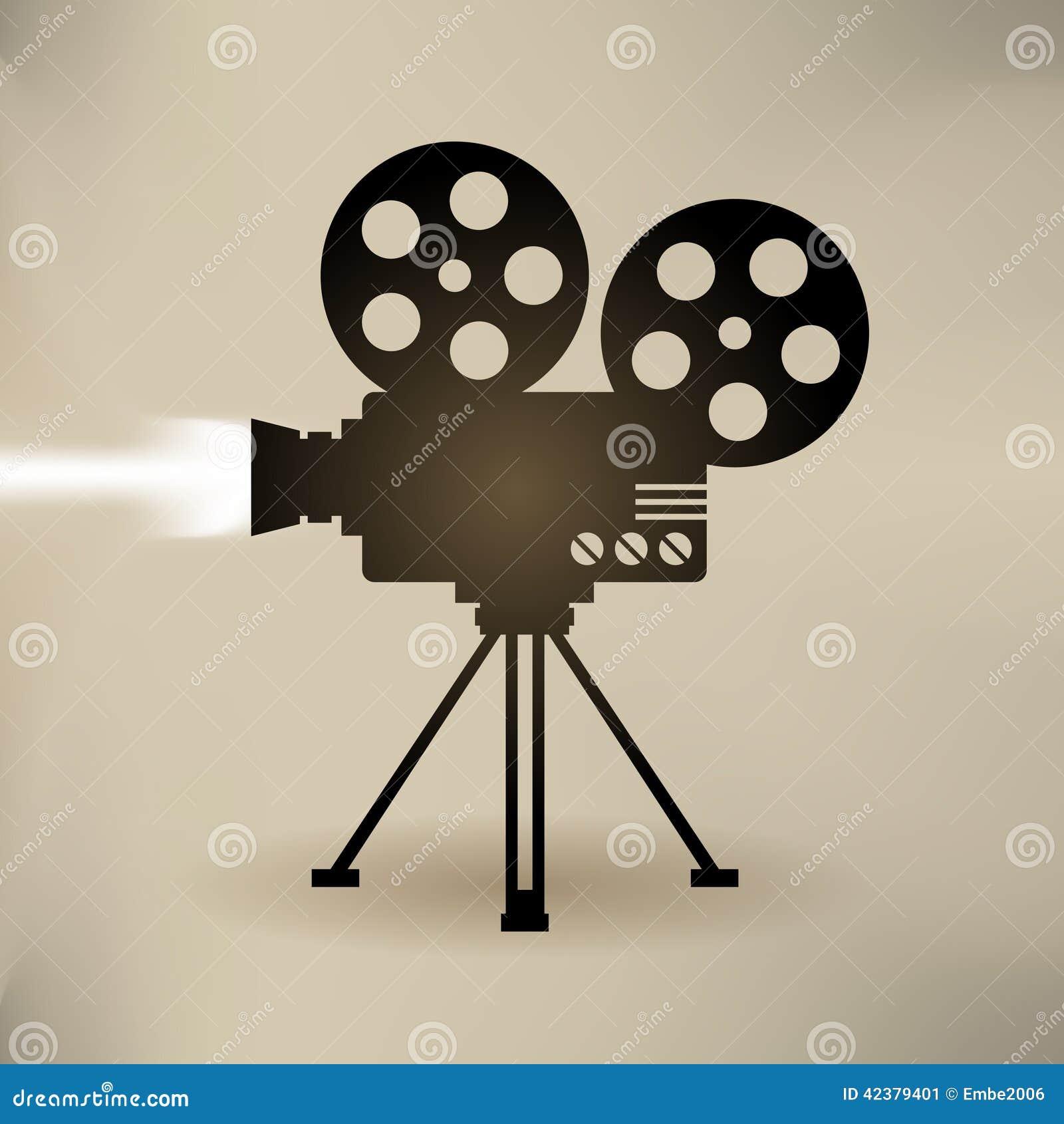 old filming camera clip art