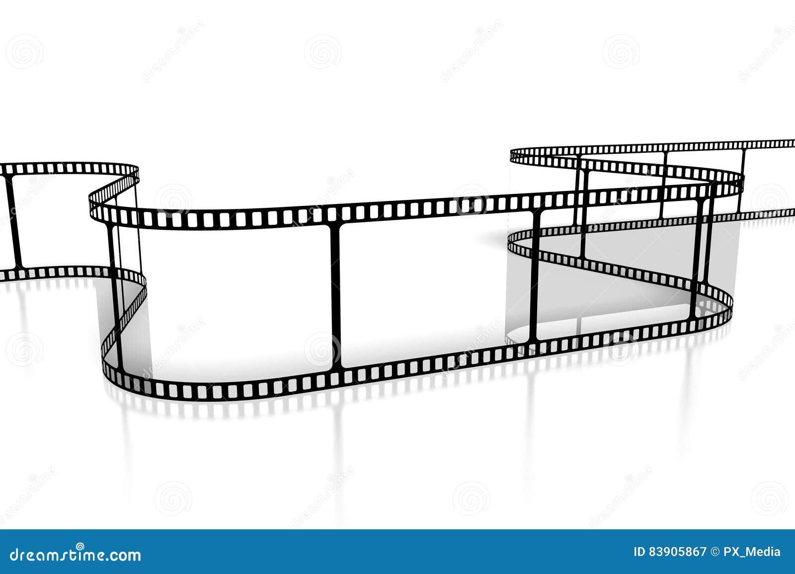 Movie/ camera tape concept stock illustration  Illustration