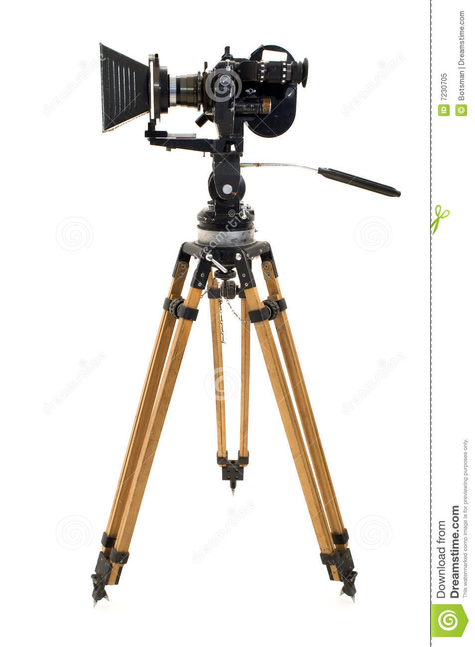 The Movie Camera And Tripod. Royalty Free Stock Photo - Image: 7230705