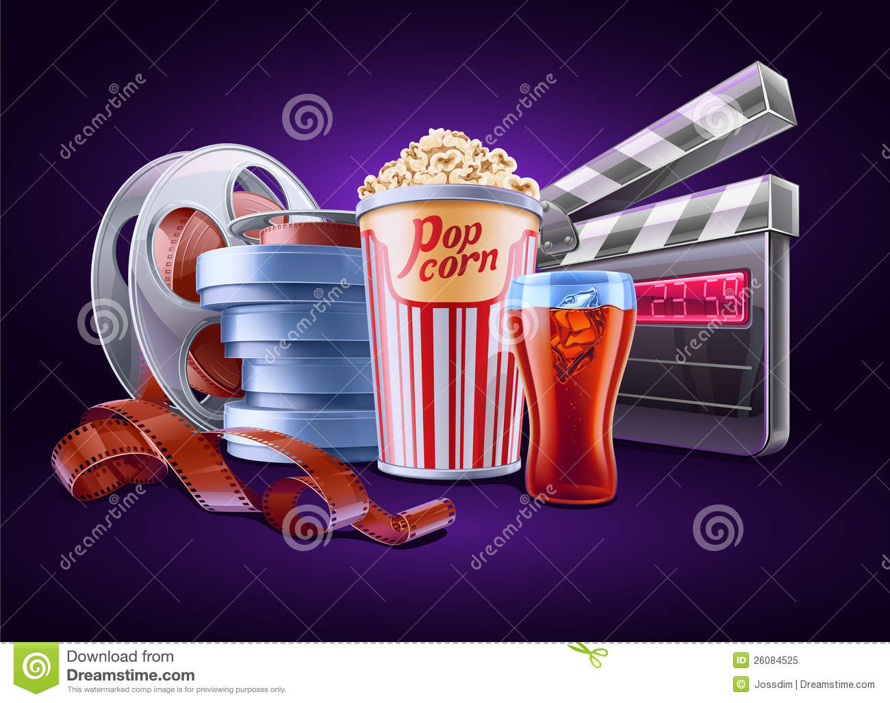 cinema movie background vector royalty theme dreamstime illustration preview