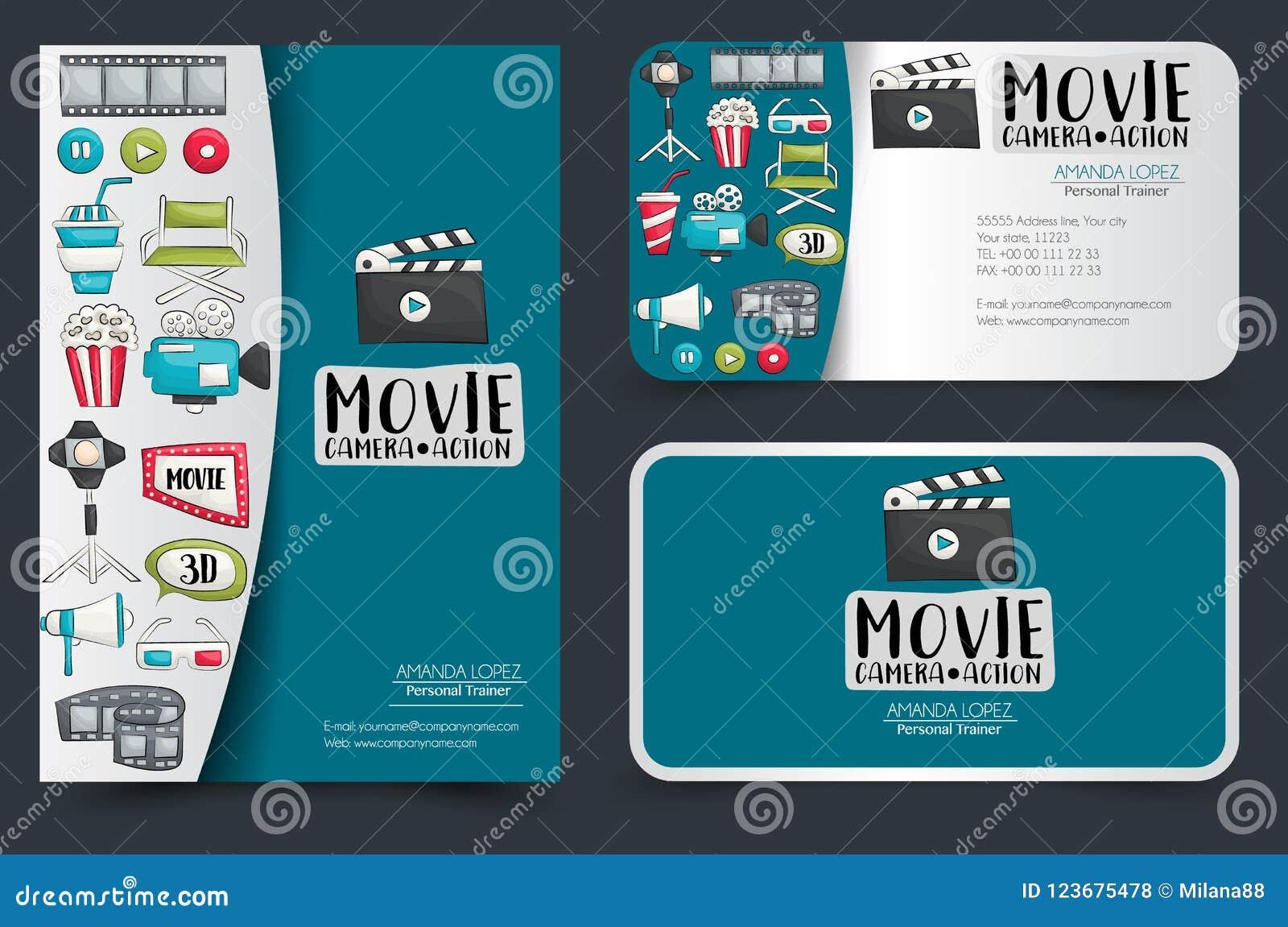 Movie cinema corporate identity design set flyer and business cards download movie cinema corporate identity design set flyer and business cards stock vector colourmoves