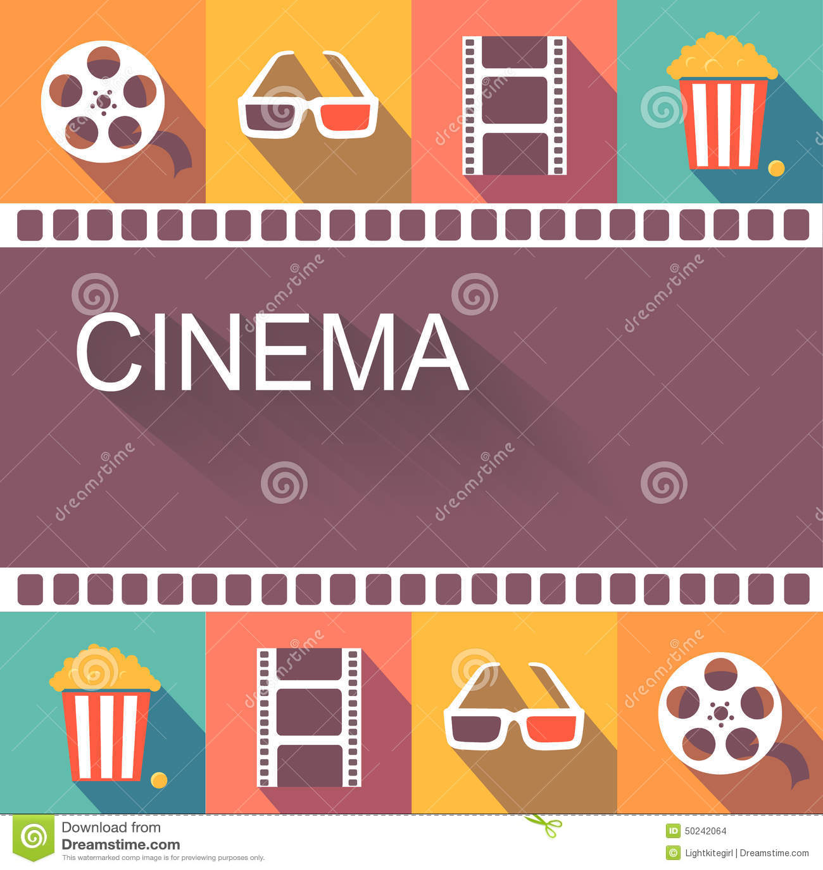 Elements of a poster design - Cinema Design Movie Poster Vector Action Sign Element