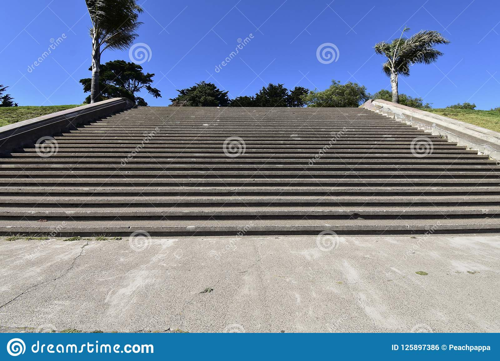 The movie damaged steps of Alta Plaza Park, 3.