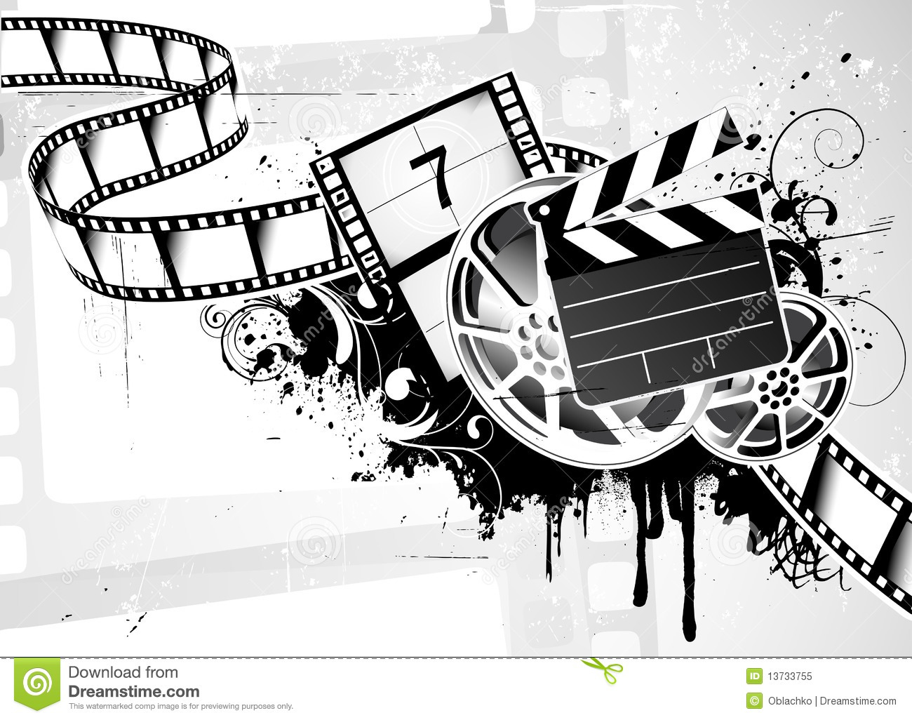 Movie Film Background Stock Vector Illustration Of Banner 13733755