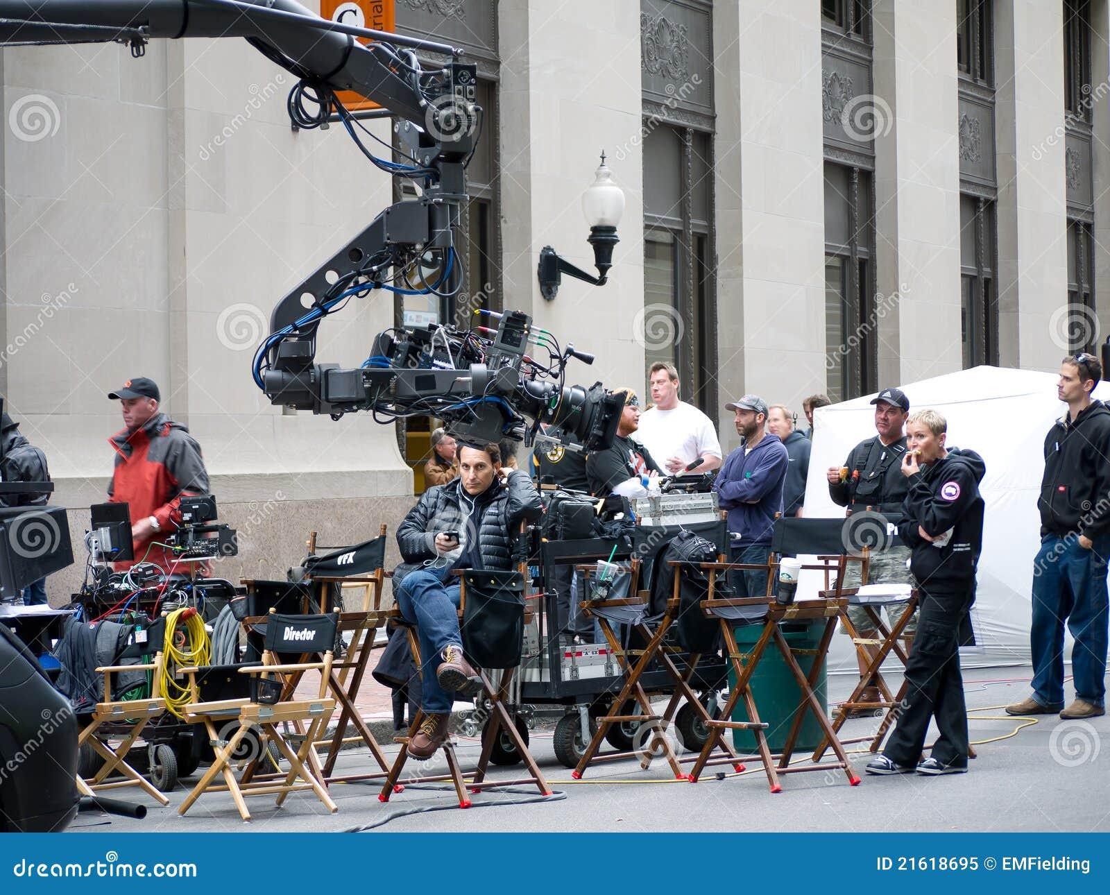 Movie Film Crew on location RIPD movie