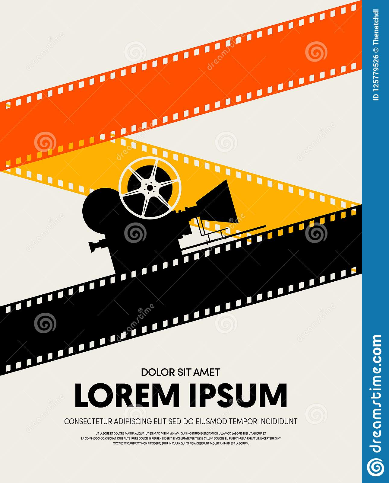 Movie And Film Festival Poster Template Design Stock Illustration