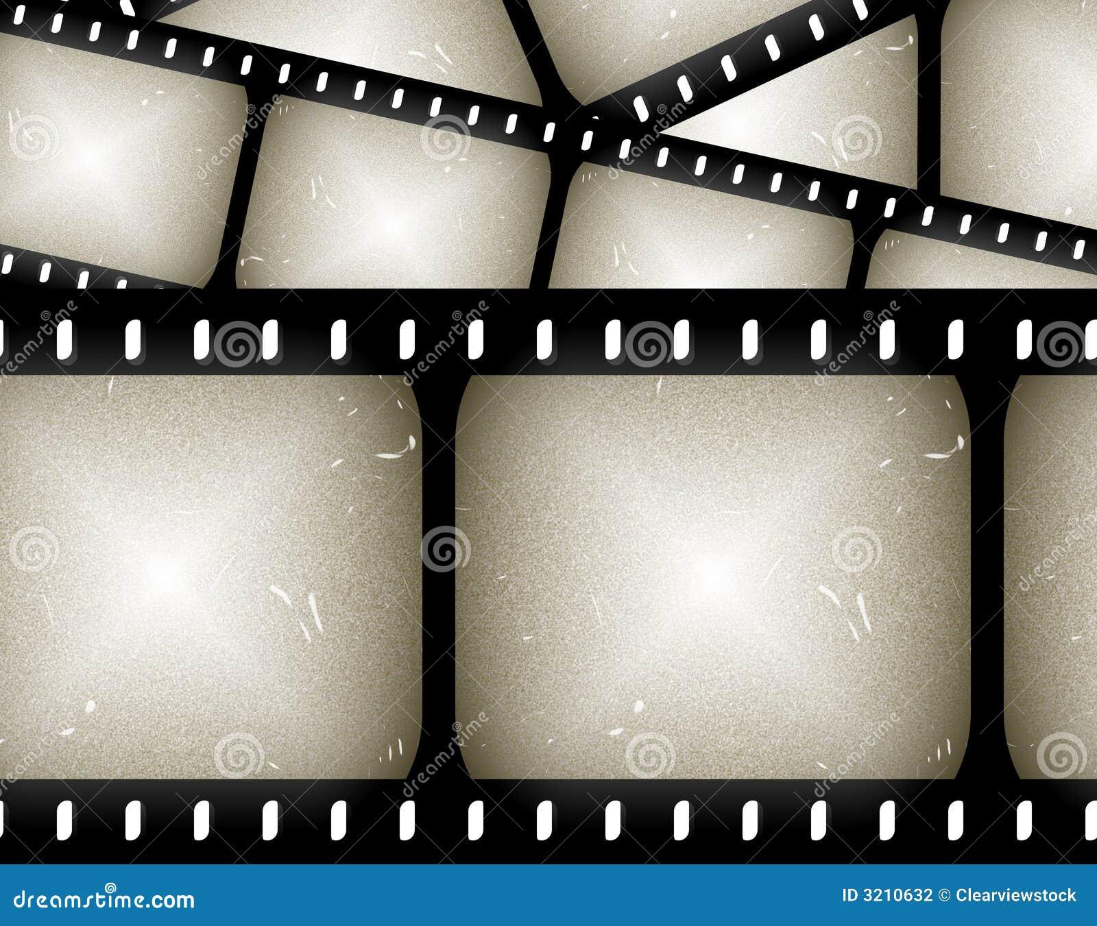 Movie Film Frame Background Stock Vector Illustration Of Border